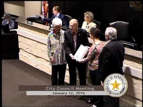City Council Meeting - January 12, 2016