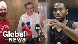 John Tory, Nav Bhatia encourage Toronto Raptors fans to give Kawhi Leonard space