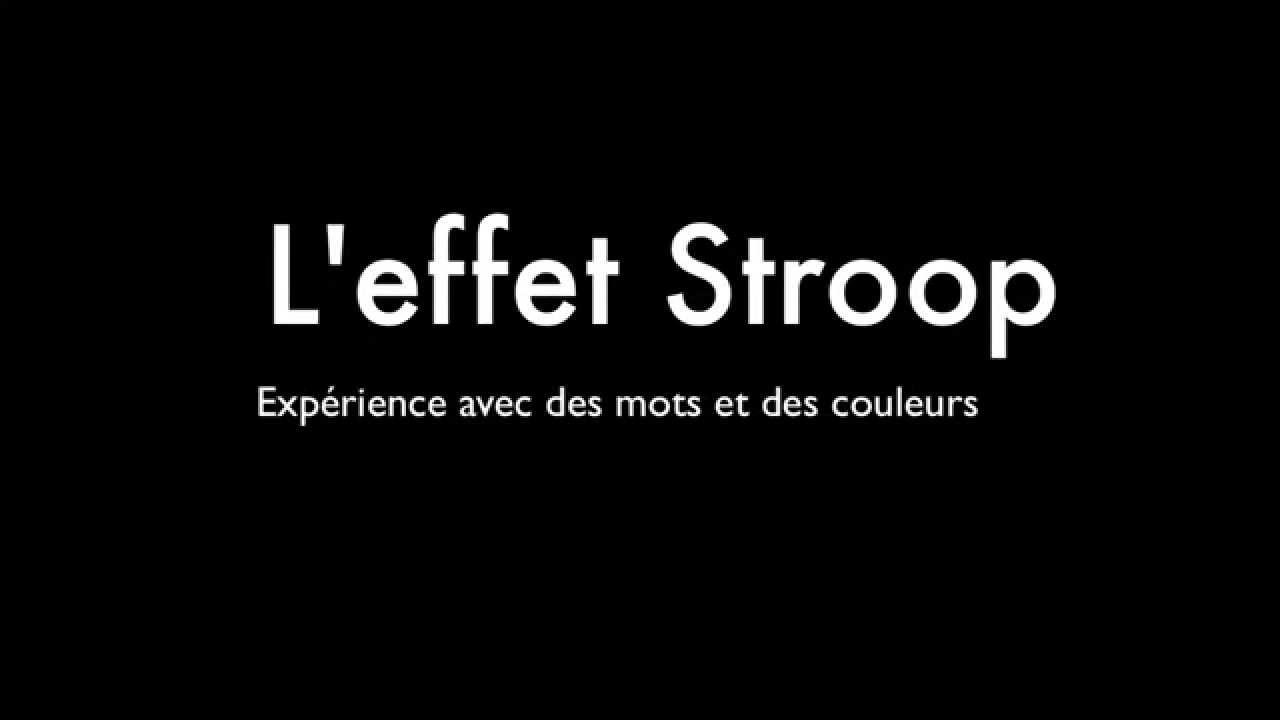 L'effet Stroop