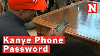 Kanye West Accidentally Reveals '000000' Phone Password During White House Visit