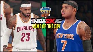 NBA 2K15 (PS4): Cavs vs Knicks Sim (NBA Game Of The Day) (60FPS HD Gameplay)