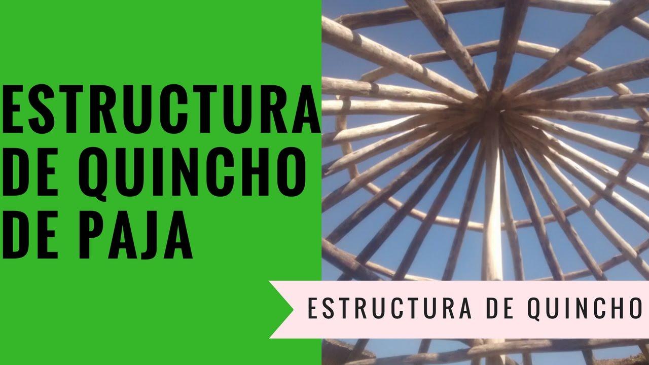 Como hacer una estructura de techo de paja con palos o - Postes de madera ...