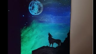 Mystical wolf Speed drawing [Glows in the dark] YouTube