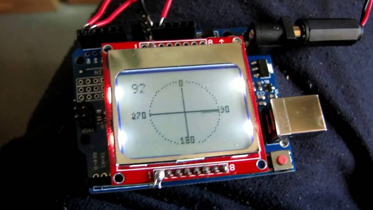 Arduino UNO compass with gy91 and Nokia Display tilt compensated
