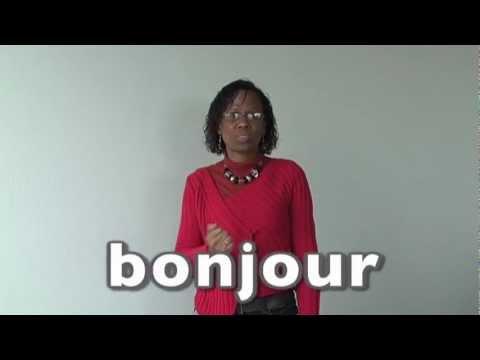 Célèbre Apprendre la langue des signes LSF : salutations bonjour bonsoir  ZA76