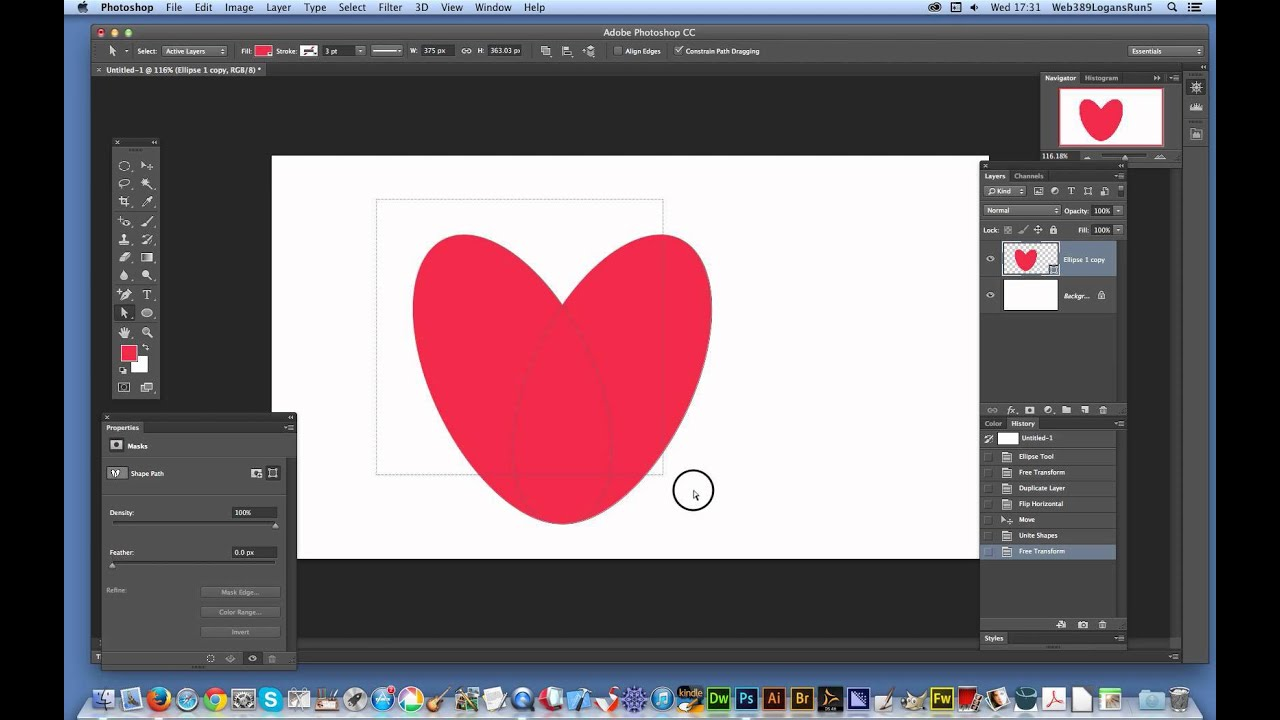 как сделать в фотошопе cs6 сердце