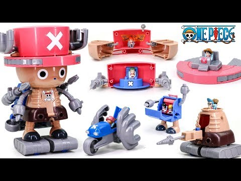 One Piece Go Chopper Robo Bike Wing Brain Jet Marine Tank 6 Set Combine Robot Toys