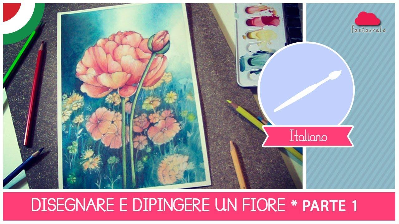 Corso Di Acquerello Base Come Disegnare E Dipingere Un Fiore