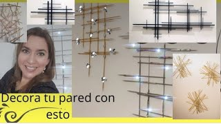 Decoración para pared con palillos