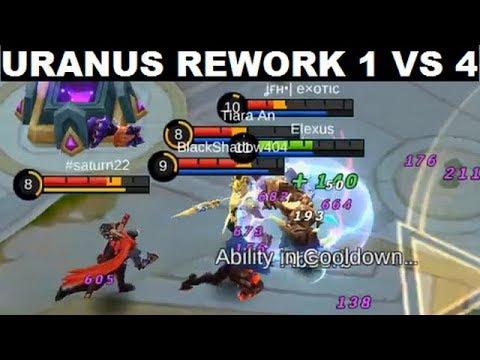 Uranus Rework Full Gameplay 1 Vs 4 No Problem (Maniac..?) It's Not That Bad/Fail - Mobile Legends