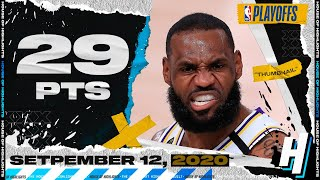 LeBron James 29 Pts 7 Ast Full Game 5 Highlights vs Rockets | September 12, 2020 NBA Playoffs