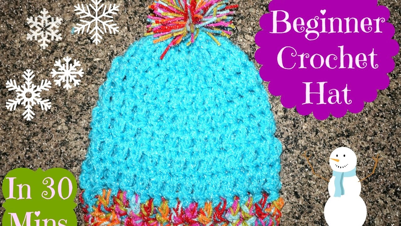 How To  Easy 30 Minute Crochet Hat for Beginners  7dd2f02ea19