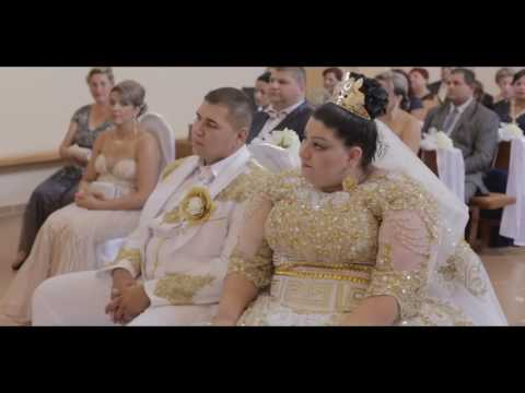 Wedding Roma in Slovakia - 19 years of the bride fell asleep bills of 500 euros and gold