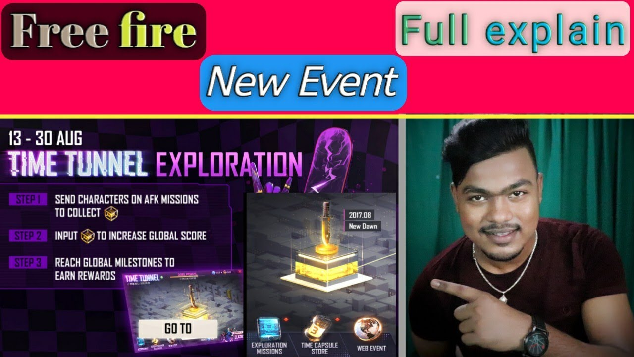Time Tunnel Exploration In Free Fire | free fire 3rd anniversary event