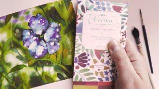 Dipingere ad acquerello: la petunia NIGHT SKY (galaxy flower)