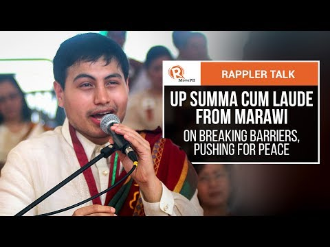 Rappler Talk: UP summa cum laude from Marawi on breaking barriers, pushing for peace