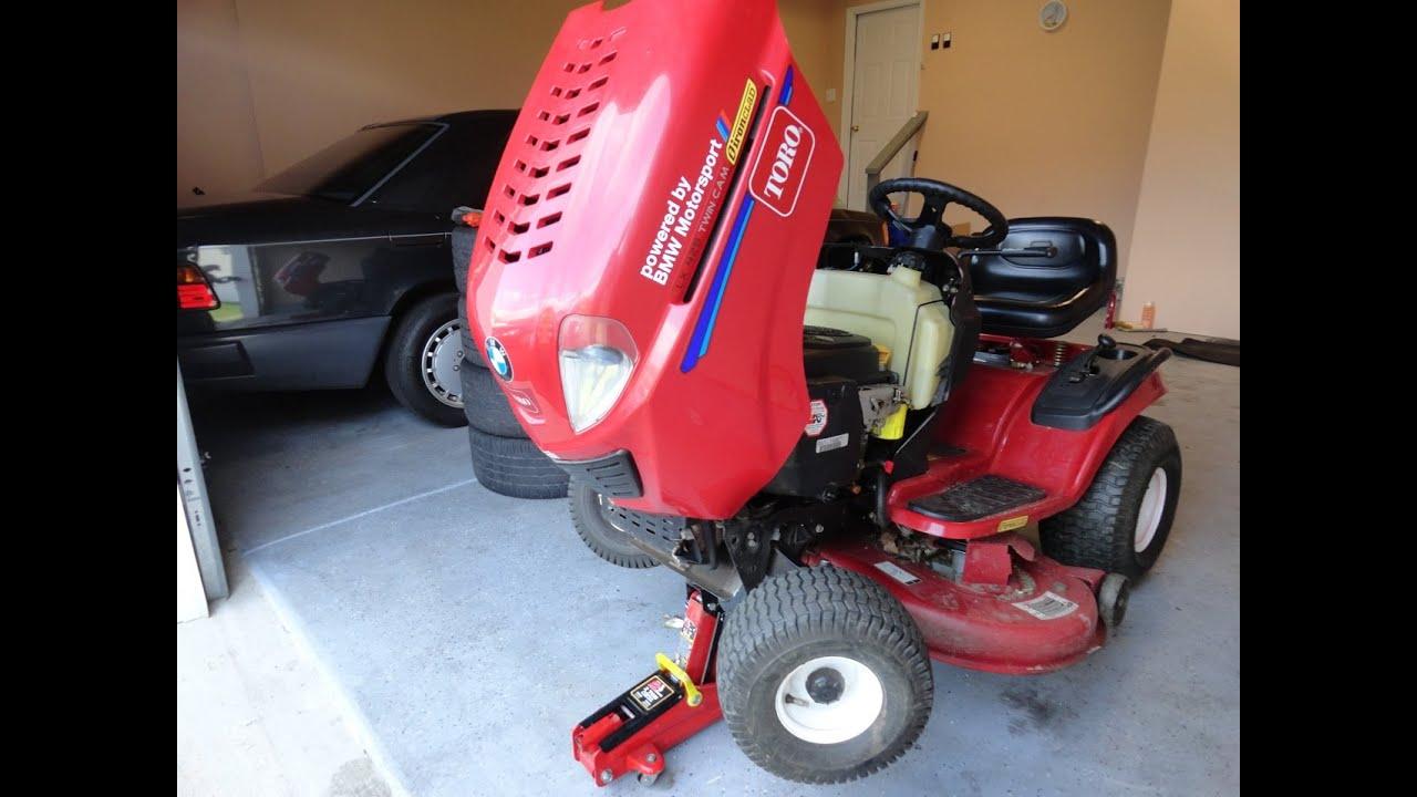 Diy Greasing Lawnmower Front Points Amp Steering Bushings