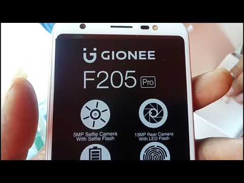 Gionee f205 pro unboxing & first look & camera review