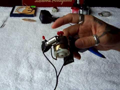 Homemade tattoo gun details youtube for How to make a home made tattoo machine