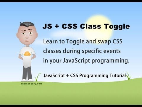 JavaScript Change CSS Class Style ClassName Toggle Tutorial