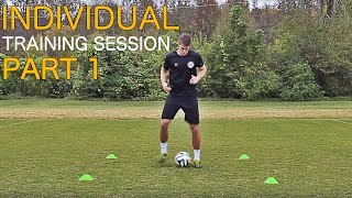 Train like a pro | individual training session part 1 | improve footwork fast