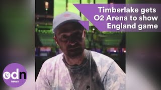 justin timberlake gets o2 arena to show england game