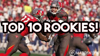 Madden 16 -  Top 10 Rookies w/ Overall Ratings & Key Attributes