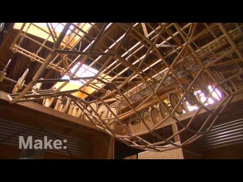 Maker Profile - Kinetic Wave Sculptures on MAKE: television