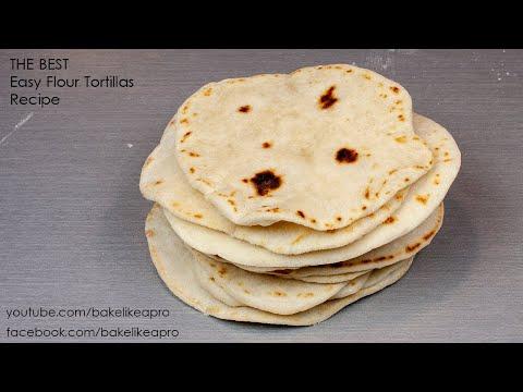 The BEST EASY Homemade Flour Tortillas Recipe