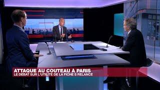 Attaque au couteau à Paris : le débat sur l'utilité du fichier