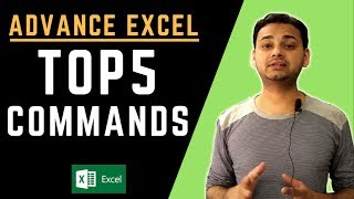 Top 5: Advanced Excel Tips 2018 (Powerful & Faster!!)  in Hindi  [Tech Guru Plus]