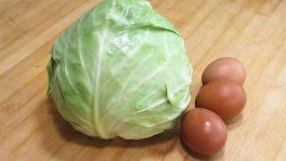 包菜加3個雞蛋,學會這樣做,簡單美味,比紅燒肉還解饞!