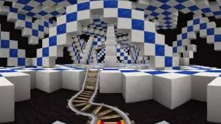 Minecraft 360 Video - Ride the Optical Illusion Roller Coaster