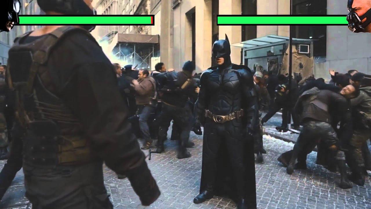 Batman Vs Bane Fight 2 With Healthbars Youtube