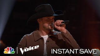 "Tanner Gomes' Wildcard Instant Save Performance of ""Pickin' Wildflowers"" - Voice Results 2020"