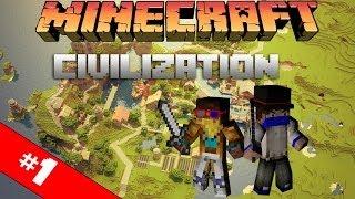 Цивилизация в Minecraft: #1 - Первый Лагерь!