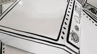셀프인테리어소품 - 그림 같은 2D 금고 만들기