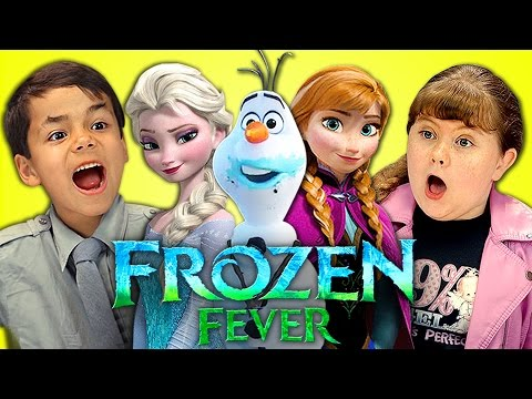 Kids react to frozen fever youtube