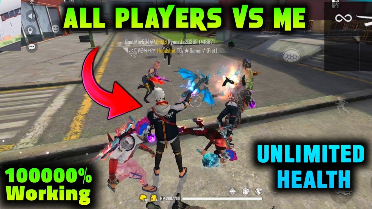 TOP 5 AMAZING TRICKS IN FREE FIRE | ALL PLAYERS TRYING TO KILL ME 🤣 | UNLIMITED HEALTH TRICK