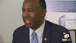 HUD Sec. Ben Carson visits San Diego apartment complex on housing bus tour