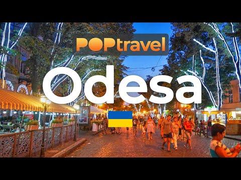 Walking In ODESSA / Ukraine 🇺🇦- Evening Tour In The Centre - 4K 60fps (UHD)