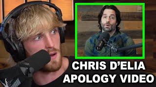 LOGAN PAUL REACTS TO CHRIS D'ELIA'S APOLOGY VIDEO