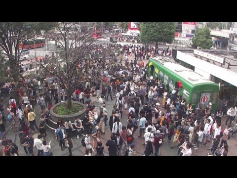 Shibuya Station Hachiko Exit in Tokyo on September, 2017 (東京 渋谷駅ハチ公前2017年9月)