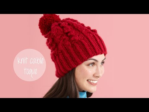 KNITTING TUTORIAL - SNOWY CABLE TOQUE