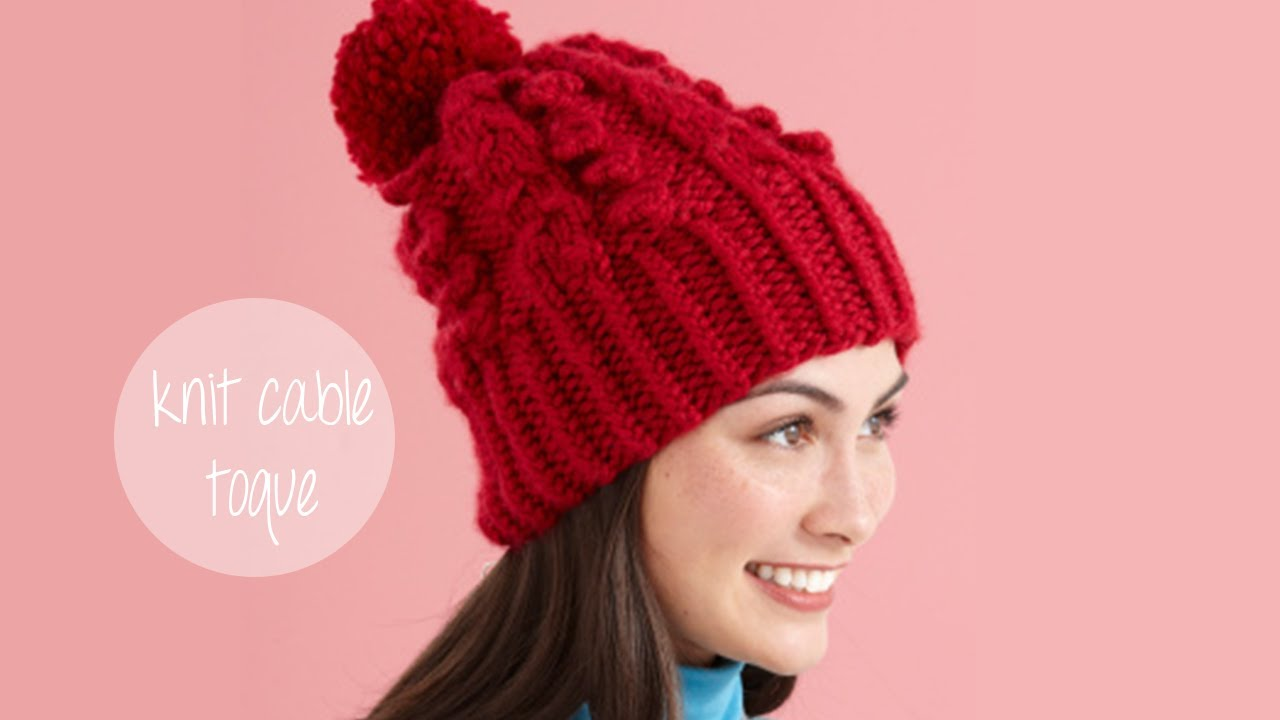 KNITTING TUTORIAL - SNOWY CABLE TOQUE - YouTube 6de86af6c13