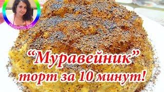 """Торт """"Муравейник"""" без выпечки за 10 минут!"""