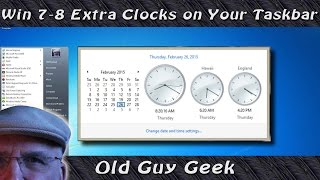 Windows - Add Additional Clocks to Your Desktop