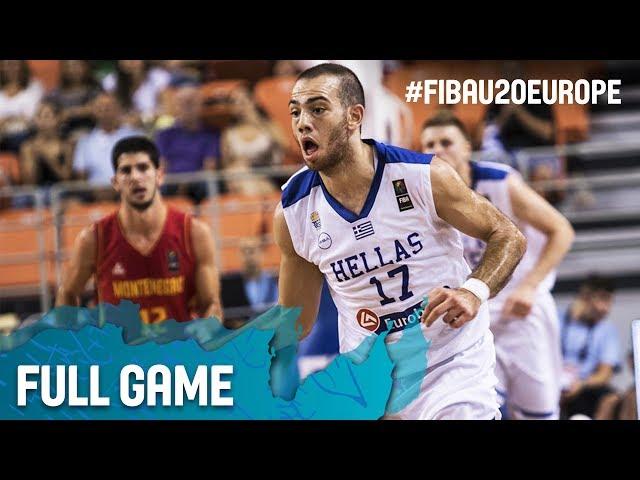 Greece v Montenegro - Full Game - Round of 16 - FIBA U20 European Championship 2017