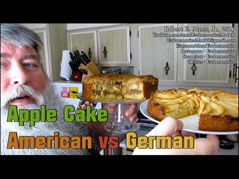 How To Make APPLE CAKE AMERICAN vs. GERMAN - Day 17,179