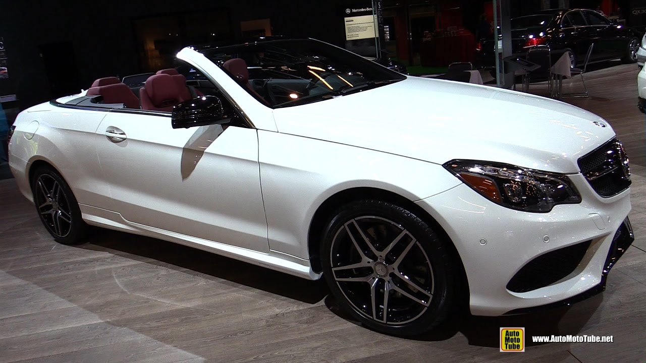 Mercedes E400 Convertible >> 2016 Mercedes E400 Cabriolet Exterior And Interior Walkaround